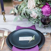 Navy and Purple Wedding Colors
