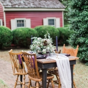 Outdoor Tabletop for Fall Wedding