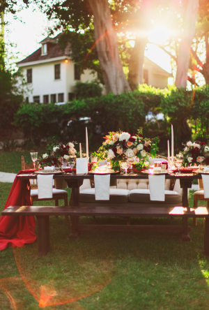 Outdoor Winter Wedding in Pasadena
