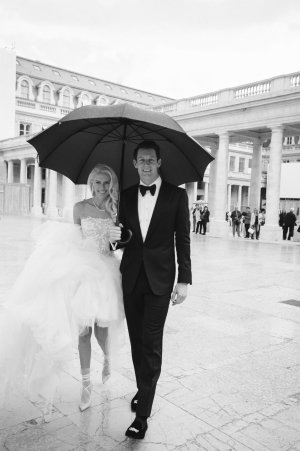Paris Wedding in the Rain