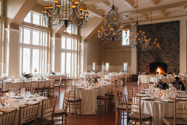 Pretty Gold Winter Wedding Reception