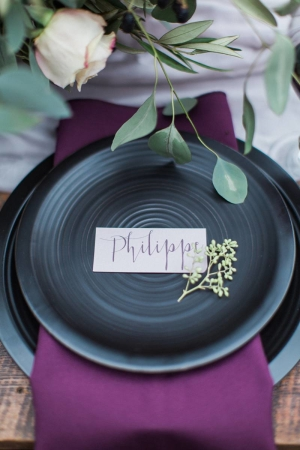 Purple Calligraphy