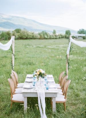 Ranch Wedding Table