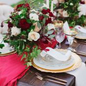 Red and Gold Winter Wedding Ideas
