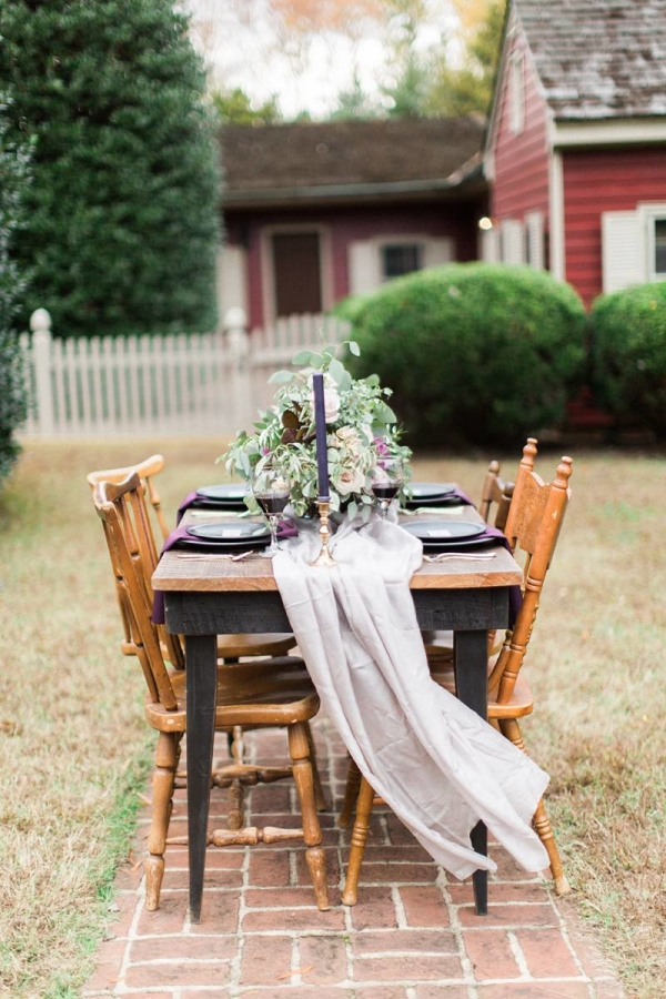 Rustic Outdoor Fall Wedding Table