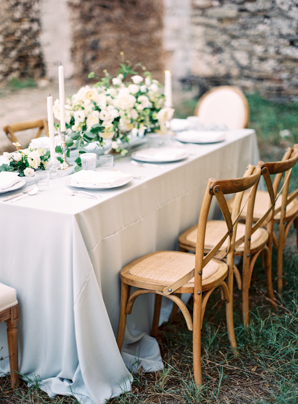 Soft Green and Blue Wedding Table