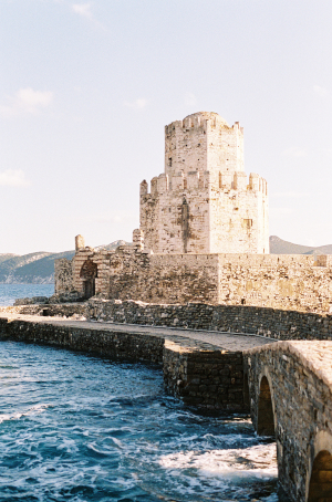 Water by Methoni Castle