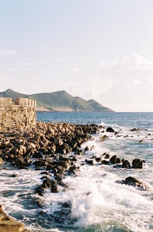 Waves by Greek Castle