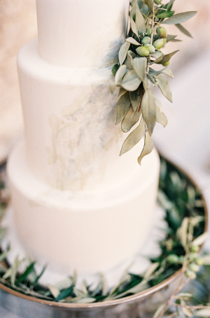 Wedding Cake with Olive Leaves