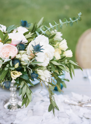 Wedding Centerpiece with Thistle