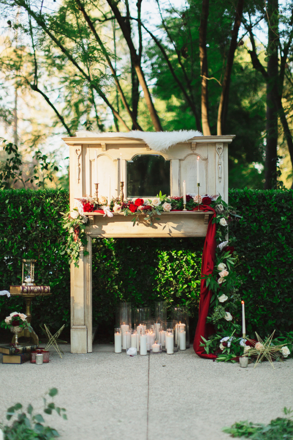 Wedding Ceremony Altar With Candles