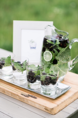 Wedding Cocktails with Berries