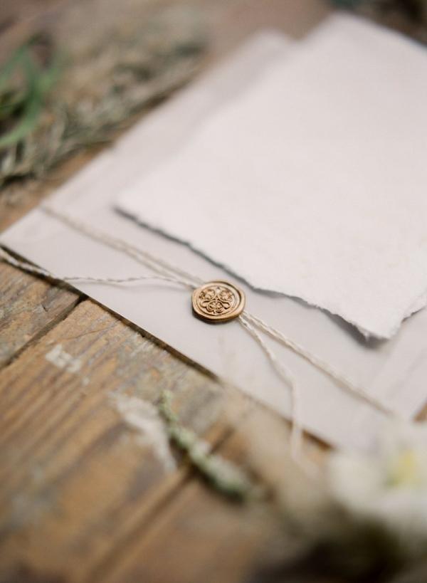 Wedding Invitations with Wax Seal