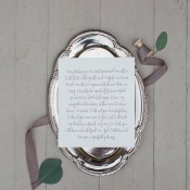 Wedding Stationery with Purple Calligraphy
