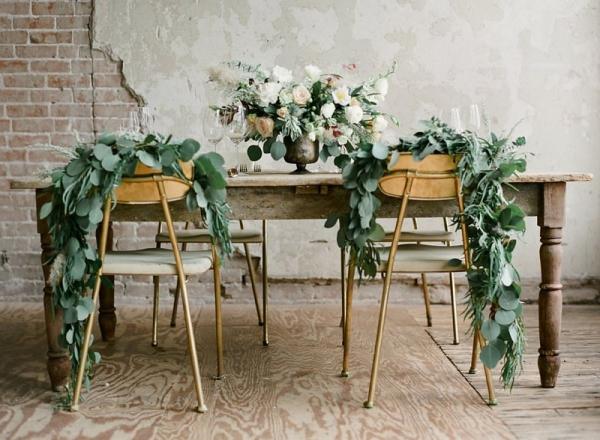 Wedding Table with Elegant Greenery
