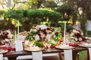 Winter Wedding Flowers in Red
