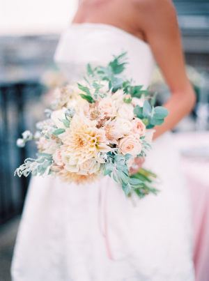 Apricot and Green Bouquet