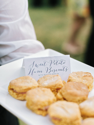 Biscuits at Southern Wedding