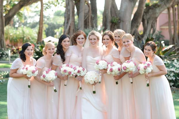Blush Amsale Bridesmaids Dresses
