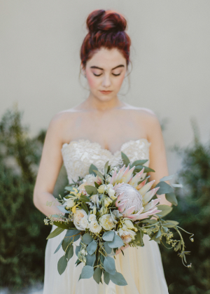 Bridal Bouquet with Protea
