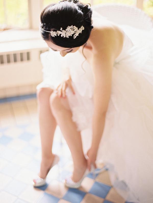 Bride in Christian Louboutin