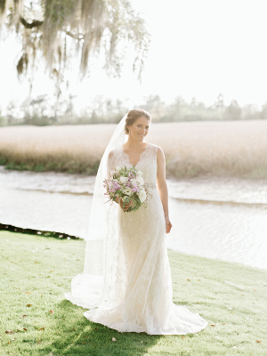 Bride in Christos Gown