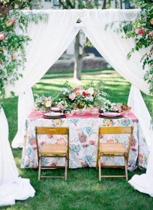 Elegant Colorful Garden Wedding