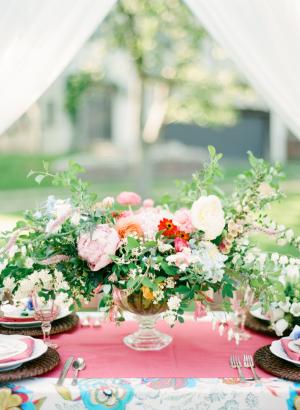 Elegant Colorful Garden Wedding Ideas
