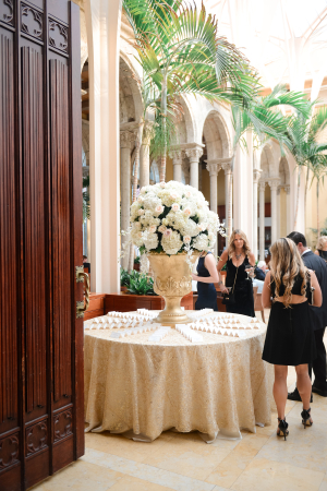 Escort Card Table with Elegant Centerpiece