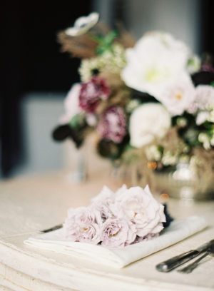 Flowers at Wedding Place Setting