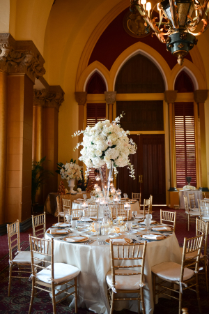 Ivory and Gold Ballroom Wedding
