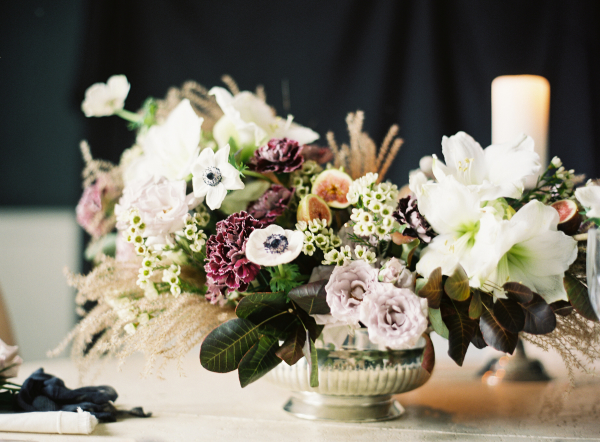 Mauve and Green Centerpiece