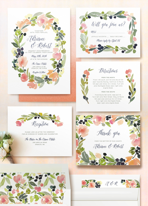 Our Favorite Save the Dates and Invitations from Minted - Elizabeth ...