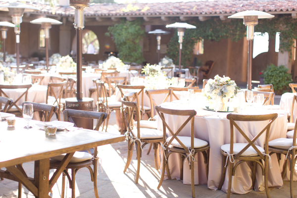 Outdoor Reception in Ivory and Green