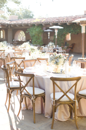 Pale Peach and Ivory Centerpieces