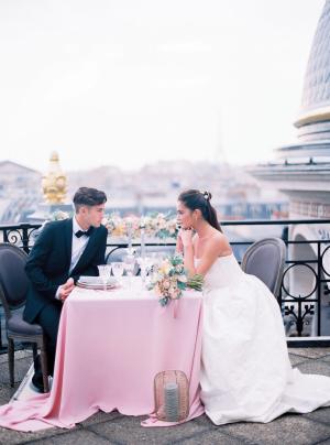 Paris Rooftop Wedding Ideas Le Secret dAudrey 13