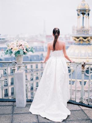 Paris Rooftop Wedding Ideas Le Secret dAudrey 7