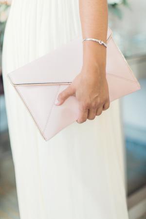 Pink Bridesmaid Clutch