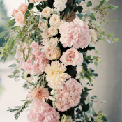 Pink Flower Detail on Wedding Arch