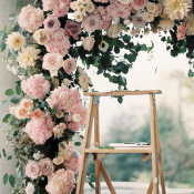 Pink Rose Ceremony Arbor