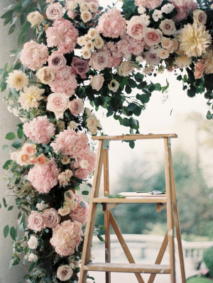 Pink Rose Ceremony Arbor