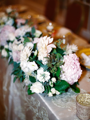 Pink and Green Garland Centerpiece