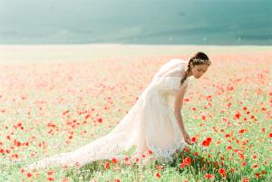 Poppy Field Bridal Shoot