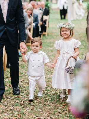 Ring Bearer in White
