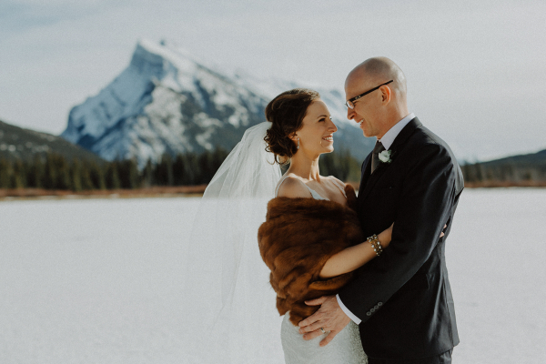 Snowy Winter Wedding in Banff 3
