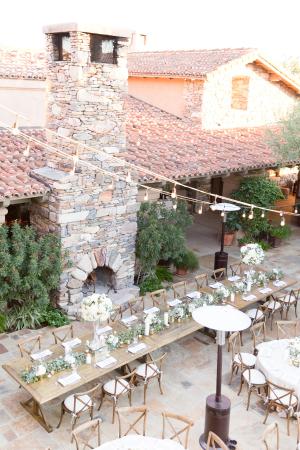 String Lights Over Wedding Reception