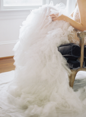 Vera Wang Tiered Tulle Gown