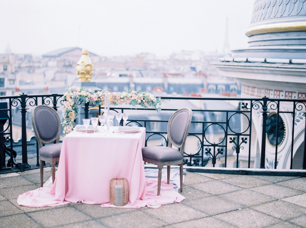 Wedding Table on Paris Rooftop