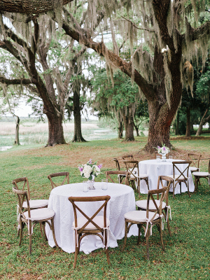 Wedding Tables on Plantation Lawn