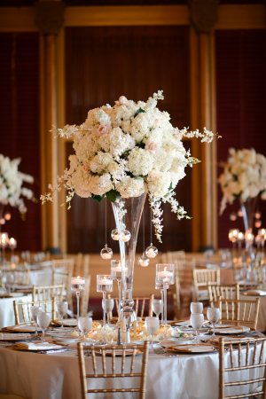 White Topiary Style Centerpiece